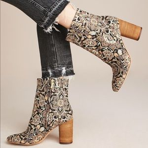Sam Edelman Tapestry Ankle Boots